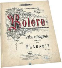 Болеро, испанский вальс, Ипполит Лабади, ноты для фортепиано