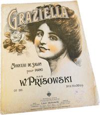 Грациелла, Присовский, старинные ноты для фортепиано