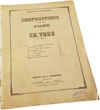 Прошу вас птички об одном, фантазия на тему песни Гумберта, Шарль Фосс, ноты для фортепиано