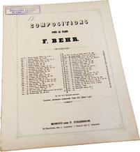 Страдания любви, русский романс, Франц Бер, ноты для фортепиано