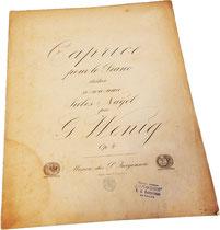 Каприс, Вениг, старинные ноты для фортепиано
