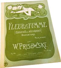 Цветок и женщина, Присовский, ноты для фортепиано