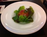 完熟トマトのサラダ