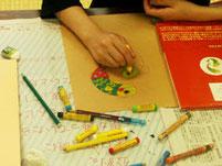 クレヨン画の練習