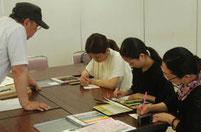 磯先生の色鉛筆実技