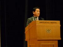 高縁社長の受賞スピーチ