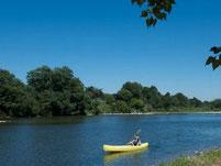 Loeur un canoë kayak entre Saint Martin d'Ardèche et Saint Just c'est faire un parcours facile et paisible.