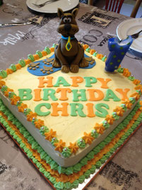 Chris 1.Geburtstag mit Scoobi-Doo Kuchen ;-)