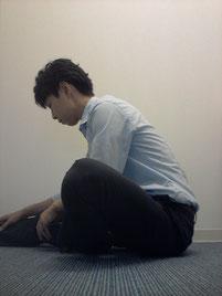 腰痛で背骨がまっすぐの奈良県御所市の男性