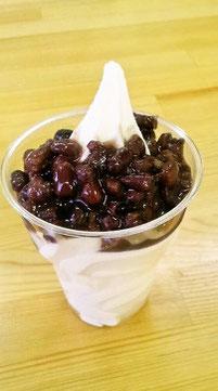 チョコミックスソフトクリーム