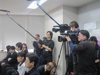 テレビ局が特別授業を撮影。