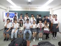 授業後に皆で記念写真