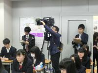 テレビ局や新聞社の取材