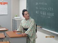 甘池英子さんの講話。