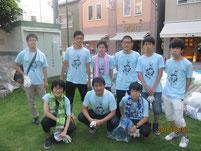8月7日(日)の参加者と記念写真。