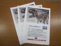生徒たちに配布した博物館の資料。