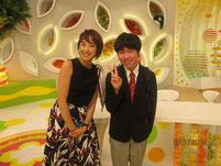 MC&リポーター越村江莉さんと記念写真。