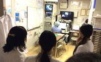 院内の各所を見学(手術室リフレッシュルーム)