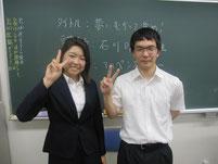 生徒と2ショット写真。