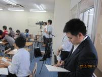 テレビ局や新聞社の取材。