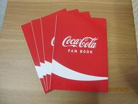 「コカ・コーラ FAN BOOK」の冊子をいただきました。