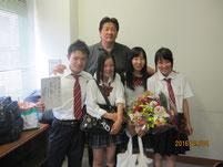 格闘家 前田日明さんと記念写真。