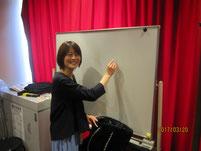 女優 西山諒さんの講話。