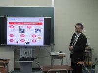 野田徳隆さんの講話。