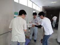 資材受け取りや、書類の提出で様々な機関を訪問しました。