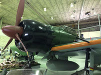 三菱重工業史料室に展示されているゼロ戦。