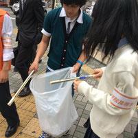 ゴミ袋がどんどんいっぱいになっていきます