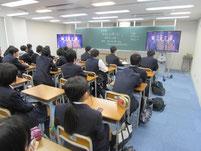 事前学習として自衛隊のビデオ視聴。