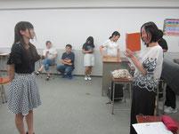 特別授業終了後に、感想を動画で撮影。