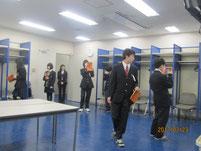 選手の控え室。