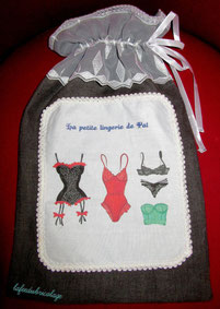 Pochette lingerie de voyage