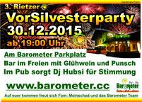 Vorsilvester Party 2015 Barometer Rietz