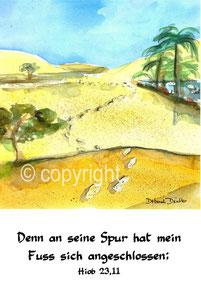 Spur in der Wüste