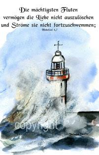 Leuchtturm mit Wellen