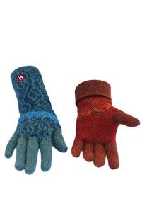 Chimu Fingerhandschuhe rot und türkis