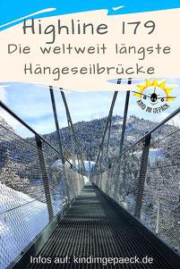 Die längste Hängebrücke der Welt in Reutte/Tirol (Österreich). Ein Besuch mit der Familie.