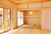 岐阜県多治見市の建築写真です。広々とした木造住宅の内観写真です。