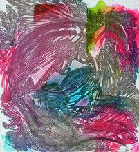 Aspirations d'eau Part. V, peinture, 2021