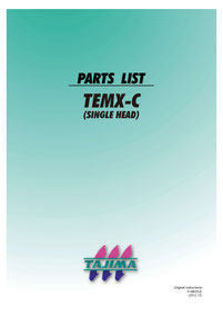 Tajima Stickmaschine, Einzelteile liste, Embroidery machine Partlist TEMX-C, Download