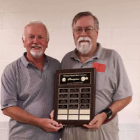 Chrymoto Trophy for league champions - Dave Rigley & Martin Henly