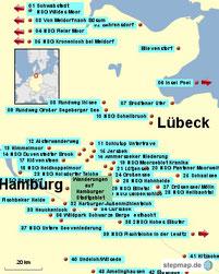Bild: Wanderrouten in Norddeutschland