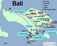 Bild: Karte von Bali
