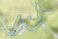 Karte mit der Wanderung Rübeland im Harz