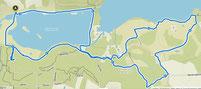Karte der Wanderung Pamhule in Dänemark