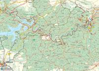 Bild: Karte vom Bodetal im Harz