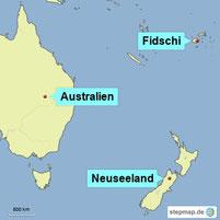 Karte Ozeanien